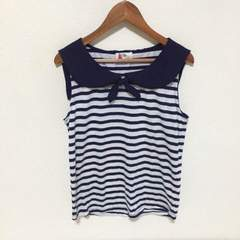 #ボーダーマリン☆ノースリーブTシャツ
