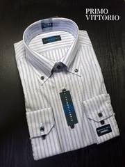PRIMOVITTORIO メンズ長袖ドレスシャツ Yシャツ L 41 84