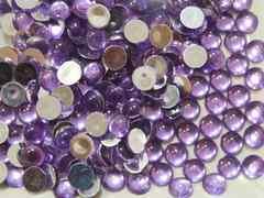デコ電★アクリル丸ポコ8mm薄紫100個