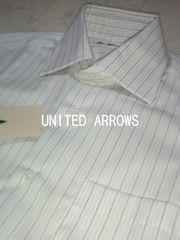 □ユナイテッドアローズ ストライプスリムフィット ドレスシャツ/メンズ37☆新品☆ポールスミス