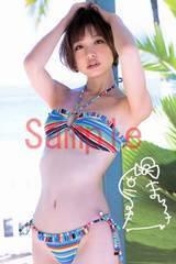 【送料無料】 AKB篠田麻里子 写真5枚セット<サイン入>03