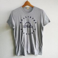 ◆Hollister/ホリスター◆定番ロゴプリントTシャツ★今期購入メンズS*グレー♪