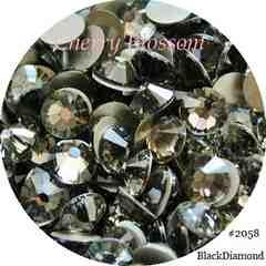 +CB+スワロss5ブラックダイアモンド◆100粒◆即決#2058