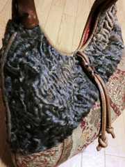 エトロ/ETRO レトロ花柄刺繍革製肩掛けショルダーバッグ