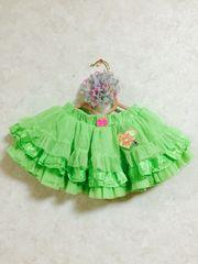 美品☆アースマジック ネオンカラーのスカート 100
