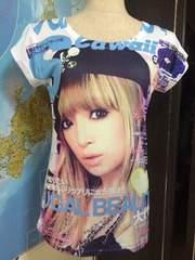 プリント可愛いシャツ(⌒-⌒; )、新品、フリーサイズ