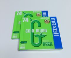 maxell★音楽用 CD-R AUDIO/GREEN 74【2枚set】