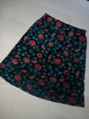 ●K P● ベロア素材花模様スカート 120