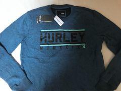 USA購入【Hurley】裏起毛 ロゴプリントスウェットトレーナーUS L