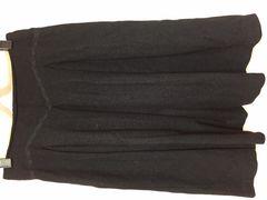 カールパークレーン 黒 ウール レース スカート