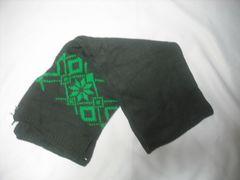 mm12 男 QUIKSILVER クイックシルバー 極厚 ニットマフラー 緑