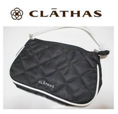 クレイサス 手持ち付きキルティングポーチ・手提げ 黒