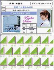 齋藤冬優花 世界には愛しかない 免許証カード 欅坂46