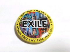 EXILE TOUR AMAZING WORLD 2015 缶バッジ 黄色