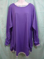 ◆新品即決◆大きいサイズ◆ホルターネックTシャツ パープル◆6Lサイズ◆
