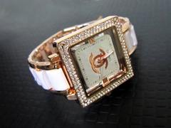 シャネル ノベルティ オシャレな腕時計 ブレスレット ホワイト◇