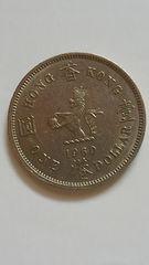 香港貨幣、壹圓(ONE DOLLAR ) 、背にクインエリザベス2世