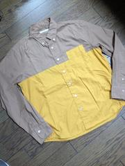 美品BLISS POINT バイカラーシャツ 日本製 アーバン