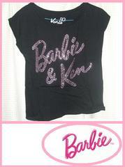 1度着用キラキラロゴバービー&KEN黒半袖TシャツMサイズ50周年?
