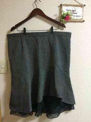 大きいサイズ5L6L☆裾フリルマーメイドスカート