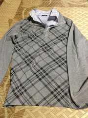 3Lサイズ グレーのポロシャツ