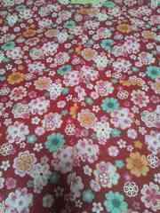 ☆新品=赤×桜柄=ダボシャツ120