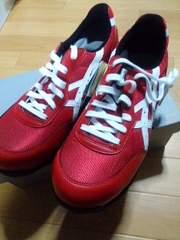 送料込☆アシックス安全靴【新作32】赤27.5cm