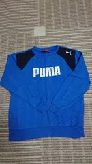 PUMA トレーナー ブルー×ネイビー サイズ150 美品 プーマ