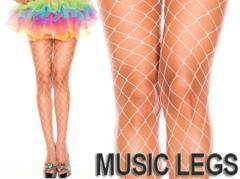 A236)MUSICLEGSビッグダイヤモンドネットストッキング白タイツダンス衣装ダンサーB系