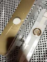 swatch ホワイト×ゴールド 腕時計 ほぼ新品