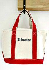 【Shinzone】美品!赤ハンドルトートバック