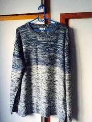 薄手メンズセーター ブルー 4L 新品未使用
