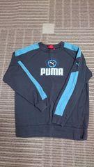 PUMA トレーナー 濃灰色×水色 サイズ150 美品 プーマ