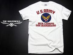USAAC・アメリカ陸軍航空隊1940モデルTシャツ.白S/ミリタリー