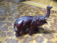 アジアン風☆木彫り☆象さん♪