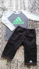 【adidas】ロンT&ハーフパンツ 130cm☆美品お得