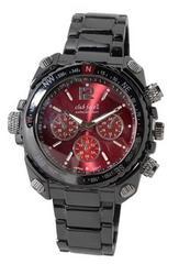 【送料無料】club faceblack メンズメタル腕時計☆CF-1060レッド