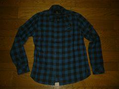 ヒステリックグラマーHysteric GlamourチェックシャツJKT青黒S