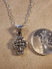 Silver925 ���� cross �y���_���g+ 925�`�F�[��37cm *4.2g�@P�R