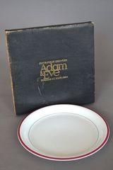 Adam&Eve たち吉 大皿 プレート 食器 ライン柄 洋器 未使用 新品
