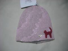 wb621 ROXY ロキシー リバーシブル モヘア ニット帽 ピンク