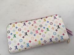 直営店購入ルイヴィトン☆マルチカラー長財布ピンク