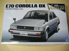 アオシマ 1/24 ザ・ベストカーヴィンテージ No.78 E70 カローラセダン 後期型DX 新品