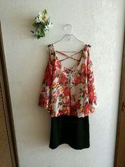 GRL ☆花柄シフォンワンピース