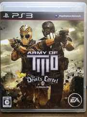 PS3 ARMY OF TWO THE DEVILS CARTEL ザ デビルズカーテル 2人同時プレイ