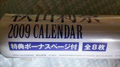 秋山莉奈★2009カレンダー☆未開封