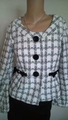 used 美品 「RewRew」バルーン袖で可愛いツイードチェックjacket