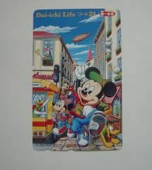 ディズニー ミッキー 第一生命 テレホンカード 50度 未使用