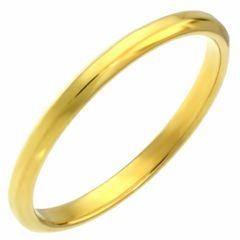 天使の輪 ステンレス  指輪 単品 ゴールド 13号