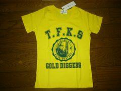 新品GOLD 24karats Diggersカレッジ系TシャツXS黄カラッツEXILE